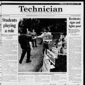 Technician, Vol. 75 No. 32, November 9, 1994
