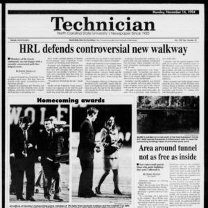 Technician, Vol. 75 No. 34, November 14, 1994