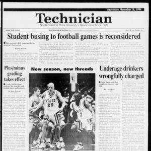 Technician, Vol. 75 No. 35, November 16, 1994