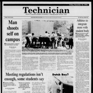 Technician, Vol. 75 No. 36, November 18, 1994