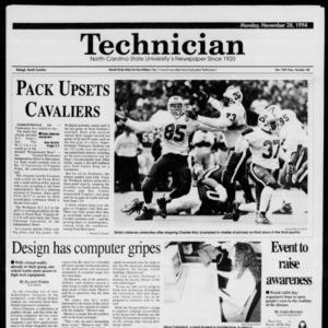 Technician, Vol. 75 No. 38, November 28, 1994