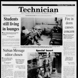 Technician, Vol. 75 No. 4, August 31, 1994