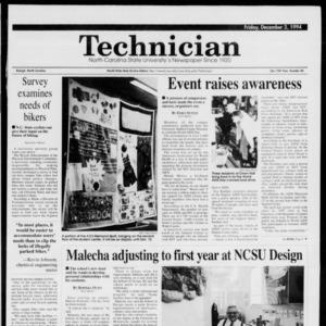 Technician, Vol. 75 No. 40, December 2, 1994