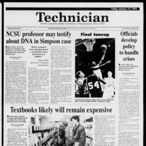 Technician, Vol. 75 No. 45, January 13, 1995