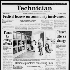 Technician, Vol. 75 No. 49, January 23, 1995