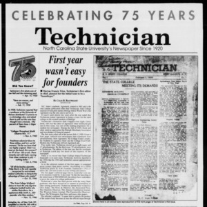 Technician, Vol. 75 No. 53, February 1, 1995