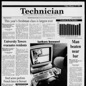 Technician, Vol. 75 No. 60, February 17, 1995