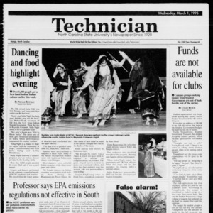 Technician, Vol. 75 No. 65, March 1, 1995