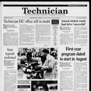 Technician, Vol. 75 No. 68, March 8, 1995