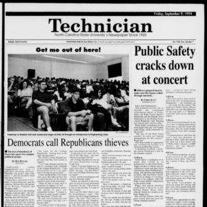 Technician, Vol. 75 No. 7, September 9, 1994