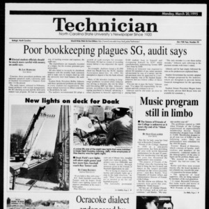 Technician, Vol. 75 No. 70, March 20, 1995