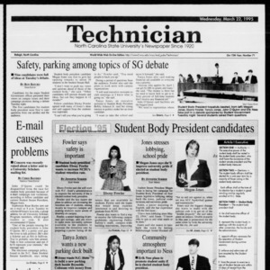Technician, Vol. 75 No. 71, March 22, 1995