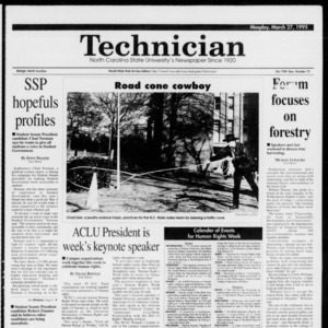 Technician, Vol. 75 No. 73, March 27, 1995