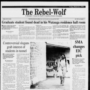 Technician, Vol. 75 No. 75, The Rebel Wolf, March 31, 1995