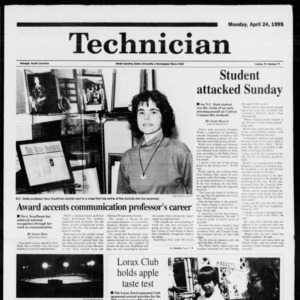 Technician, Vol. 75 No. 77, April 24, 1995