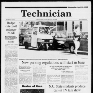 Technician, Vol. 75 No. 77, April 26, 1995