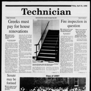 Technician, Vol. 75 No. 84, April 21, 1995