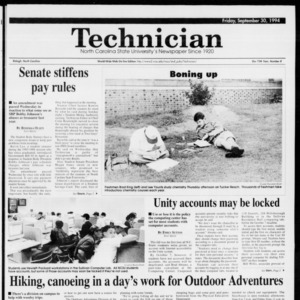 Technician, Vol. 75 No. 8, September 30, 1994