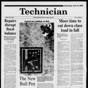 Technician, Vol. 75 No. 93, June 14, 1995