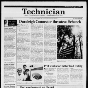 Technician, Vol. 75 No. 96, August 2, 1995