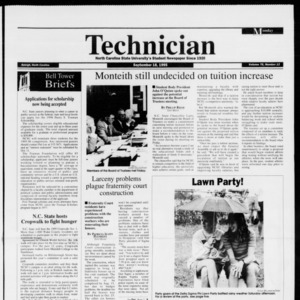 Technician, Vol. 76 No. 12, September 18, 1995