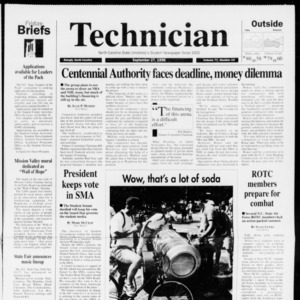 Technician, Vol. 76 No. 15, September 27, 1995