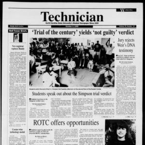 Technician, Vol. 76 No. 19, October 4, 1995