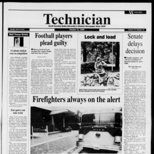 Technician, Vol. 76 No. 21, October 11, 1995