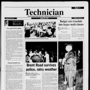 Technician, Vol. 76 No. 3, August 28, 1995