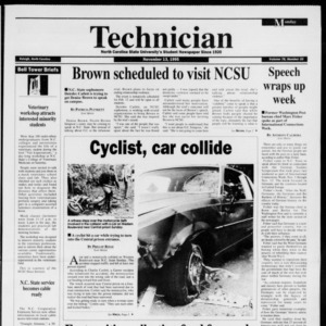 Technician, Vol. 76 No. 33, November 13, 1995