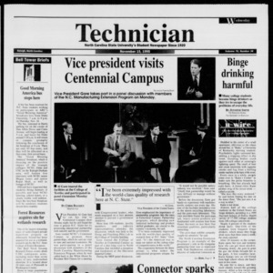 Technician, Vol. 76 No. 34, November 15, 1995