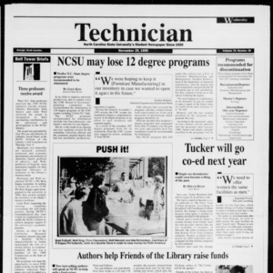 Technician, Vol. 76 No. 38, November 29, 1995