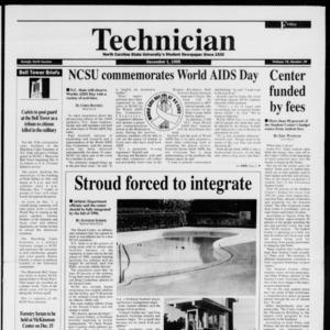 Technician, Vol. 76 No. 39, December 1, 1995