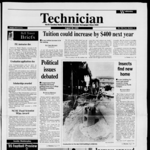 Technician, Vol. 76 No. 4, August 30, 1995