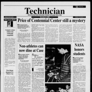 Technician, Vol. 76 No. 41, December 6, 1995