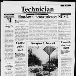 Technician, Vol. 76 No. 44, January 12, 1996