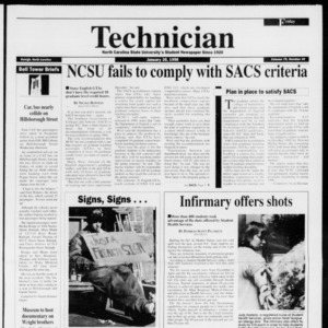 Technician, Vol. 76 No. 49, January 26, 1996