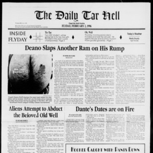 Technician: The Daily Tar Hell, Vol. 76 No. 52, February 2, 1996
