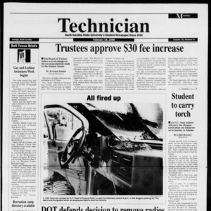 Technician, Vol. 76 No. 57, February 19, 1996