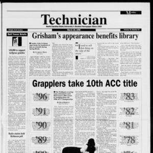 Technician, Vol. 76 No. 67, March 18, 1996