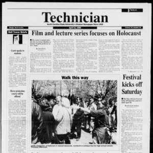 Technician, Vol. 76 No. 78, April 12, 1996