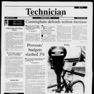 Technician, Vol. 76 No. 8, September 8, 1995