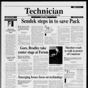 Technician, Vol. 76 No. 80, April 17, 1996