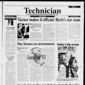 Technician, Vol. 76 No. 81, April 19, 1996
