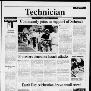 Technician, Vol. 76 No. 82, April 22, 1996