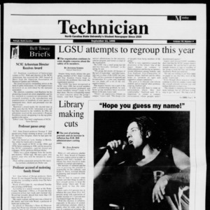 Technician, Vol. 76 No. 9, September 11, 1995
