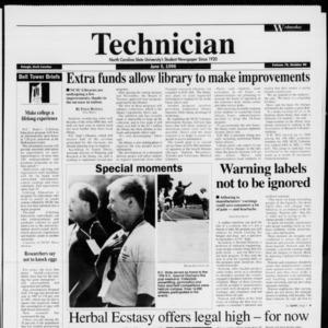 Technician, Vol. 76 No. 90, June 5, 1996