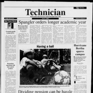 Technician, Vol. 76 No. 95, July 17, 1996