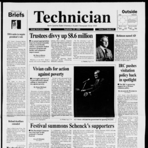 Technician, Vol. 77 No. 13, September 23, 1996
