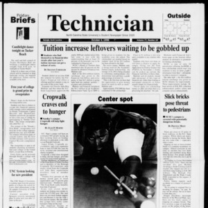 Technician, Vol. 77 No. 18, October 4, 1996